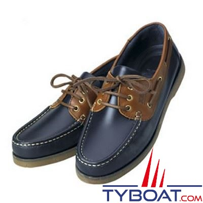 Chaussures homme XM Yachting série Crew bleu marine et marron - Taille 40