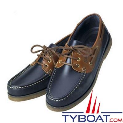 Chaussures homme XM Yachting série Crew bleu marine et marron - Taille 42