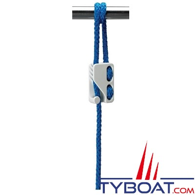 CLAMCLEAT - 10 taquets mobiles pour pare-battage - Polyamide - CL223 - Ø Cordage 3-6 mm - Blanc