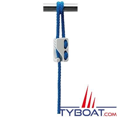 CLAMCLEAT - 10 taquets mobiles pour pare-battage - Polyamide CL224 - Ø Cordage 6-12 mm - Noir