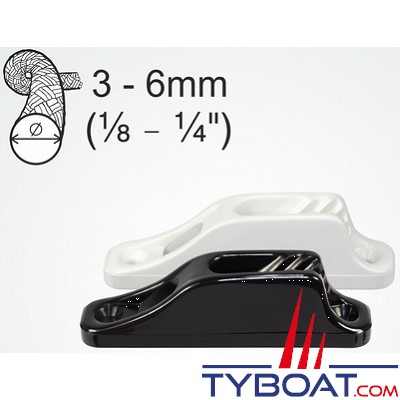 Clamcleat - CL203 - Coinceur junior polyamide noir pour cordage Ø 3 à 6 mm