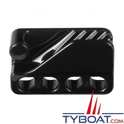 Clamcleat - CL234 Taquet mobile à trou polyamide noir pour cordage Ø 6 à 12 mm