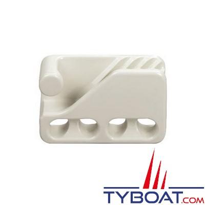 Clamcleat - CL234W Taquet mobile à trou polyamide blanc pour cordage Ø 6 à 12 mm