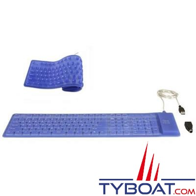 Clavier souple MC Marine 109 touches Azerty UBS-PS/2 IP67