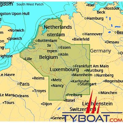 C-MAP - Carte 4D Local format SD micro SD - EN-D076 Belgium Inland and River Rhein