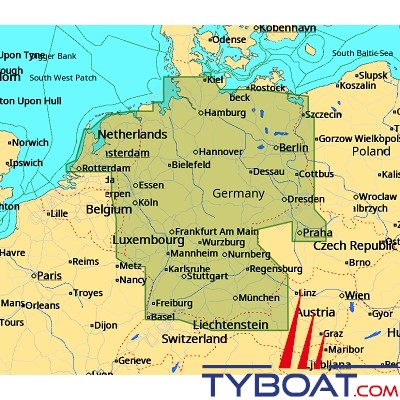 C-MAP - Carte 4D Local format SD micro SD - EN-D080 Germany Inland