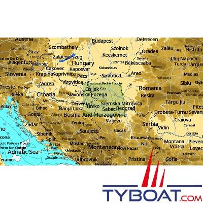 C-MAP - Carte 4D Local format SD micro SD - EN-D085 Danube : Croatia, Serbia