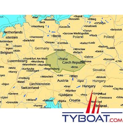 C-MAP - Carte 4D Local format SD micro SD - EN-D086 Czech Waters