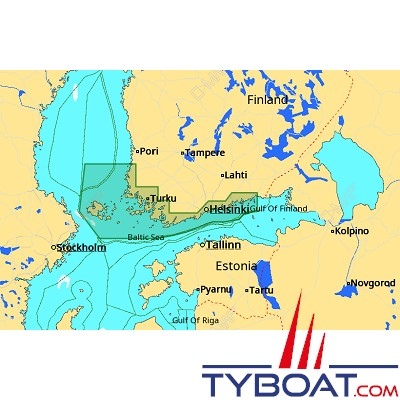C-MAP - Carte 4D Local format SD micro SD - EN-D309 Gulf of Finland West