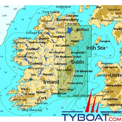 C-MAP - Carte 4D Local format SD micro SD - EW-D028 Ireland Strangford Lough to Saltee
