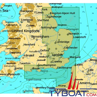 C-MAP - Carte 4D Local format SD micro SD - EW-D040 United Kingdom England South East Coast