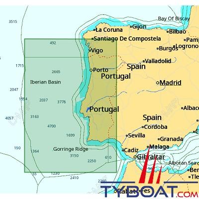 C-MAP - Carte 4D Local format SD micro SD - EW-D135 Portugal Coast