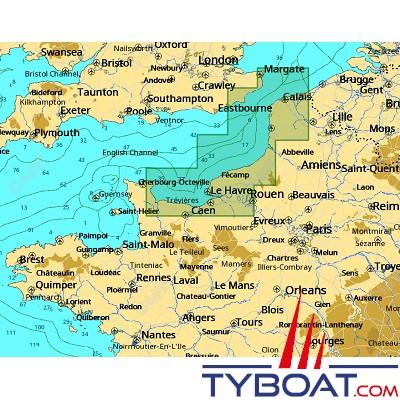 C-MAP - Carte 4D Local format SD micro SD - EW-D306 France Barfleur to Dunkerque