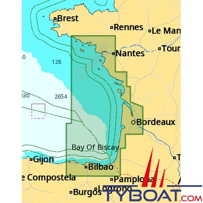 C-MAP - Carte 4D Local format SD micro SD - EW-D315 France Santander to Brigneau