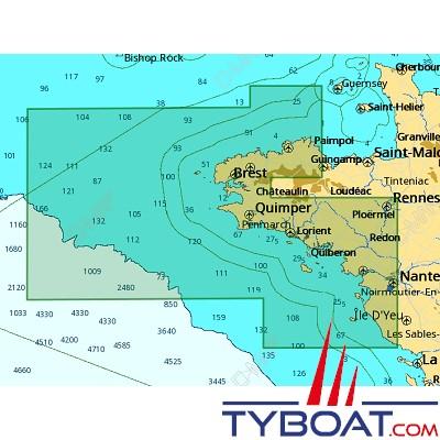 C-MAP - Carte 4D Local format SD micro SD - EW-D316 Jard-Sur-Mer à Cap Fréhel