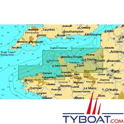 C-MAP - Carte 4D Local format SD micro SD - EW-D318 France L'Aberwrac'h to Le Tréport