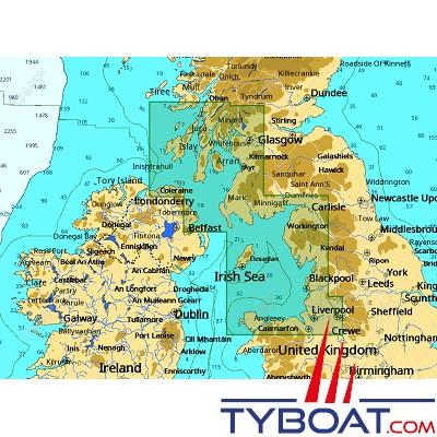 C-MAP - Carte 4D Local format SD micro SD - EW-D322 United Kingdom Irish Sea and North Channel