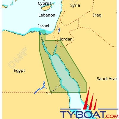 C-MAP - Carte 4D Local format SD micro SD - ME-D008 Egyptian Red Sea Coasts