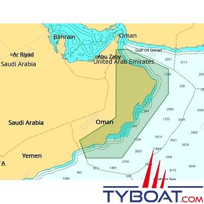 C-MAP - Carte 4D Local format SD micro SD - ME-D011 Oman