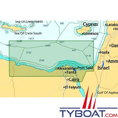 C-MAP - Carte 4D Local format SD micro SD - ME-D014 Egyptian Méditerranean Coast
