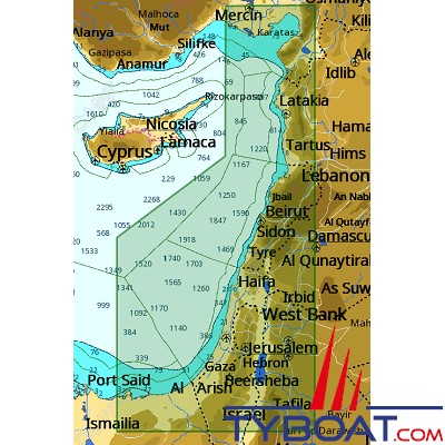 C-MAP - Carte 4D Local format SD micro SD - ME-D015 Israel, Lebanon and Syria