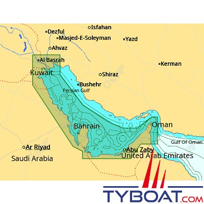C-MAP - Carte 4D Local format SD micro SD - ME-D016 Persian Gulf Western