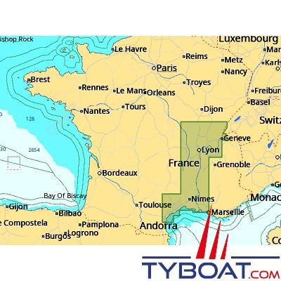 C Map Carte Local Max Format Sd Micro Sd Ew M234 France Eaux Intérieures Sud