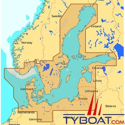C-MAP - Carte Max Wide (Europe) format SD micro SD - EN-M299 Baltic Sea and Denmark