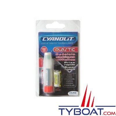 Colle Cyanolit Plastic + primaire super puissante 2g.