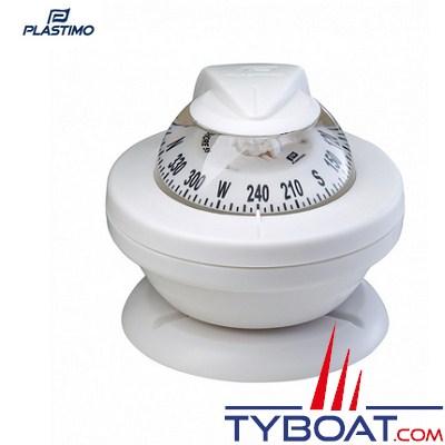 Compas Plastimo Offshore 55 - Rose blanche, collerette blanche