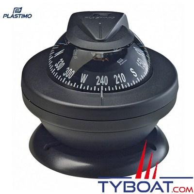 Compas Plastimo Offshore 55 - Rose noire, collerette noire