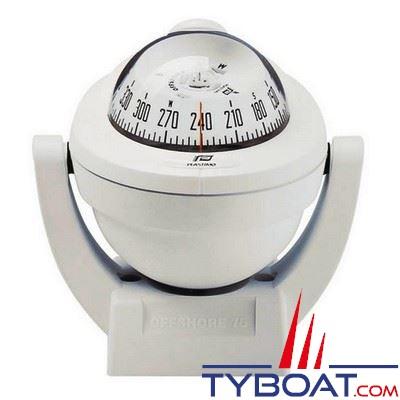Compas Plastimo Offshore 75 sur étrier - blanc rose blanche