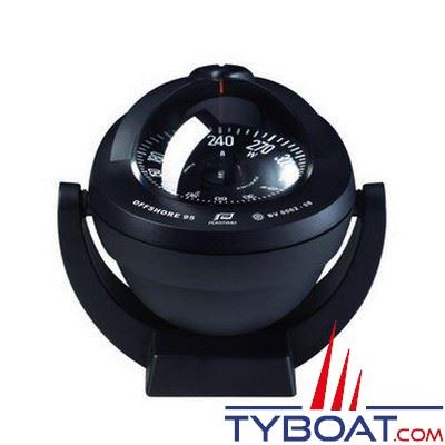 Compas Plastimo Offshore 95 sur étrier - noir rose plate noire