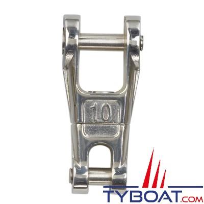 Connecteur chaîne-ancre Plastimo inox à émerillon pour chaîne Ø 10 mm