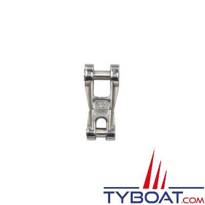 Connecteur chaîne-ancre Plastimo inox à émerillon pour chaîne Ø 12 mm