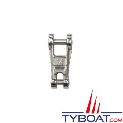 Connecteur chaîne-ancre Plastimo inox à émerillon pour chaîne Ø 14 mm