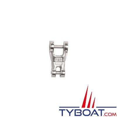 Connecteur chaîne-ancre Plastimo inox à émerillon pour chaîne Ø  6 mm