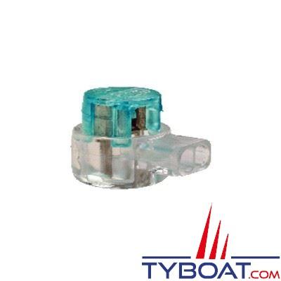 Connecteur courants faibles BizLine 2 entrées type prolongation Ø 0,3 à 0,9 mm vert (x10 pièces)