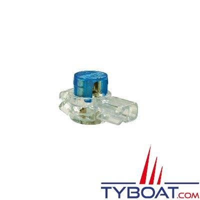 Connecteur courants faibles BizLine 2 repiquages type dérivation Ø 0,3 à 0,9 mm bleu (x10 pièces)