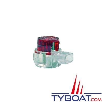 Connecteur courants faibles BizLine 3 entrées type prolongation/dérivation Ø 0,3 à 0,9 mm rouge (x10 pièces)