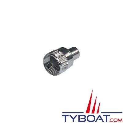 Connecteur RA132 Glomex PL259 mâle pour câble RG58C/U