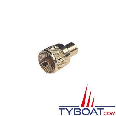 Glomex - Connecteur RA132 Gold - PL259 - mâle pour câble RG58