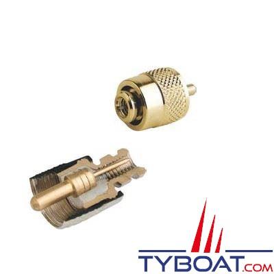 Connecteur RA132 Solderless Glomex PL259 mâle pour câble RG58