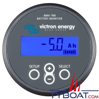 VICTRON ENERGY - Contrôleur de batterie BMV-702 avec shunt 500 Ampères et contrôle de la tension d'un deuxième parc de batterie
