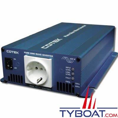 COTEK - Convertisseur DC-AC - 24 Volts - 230 Volts - 600 Watts