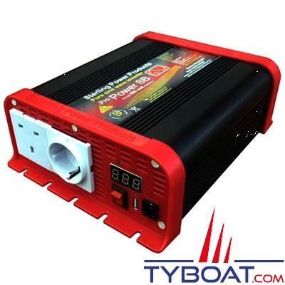 Convertisseur de tension Sterling Power série SB24300 pure sinus 24V/220V 300 Watts