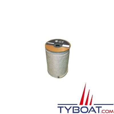 Cordage de mouillage polyester GS Marine Haute résistance Ø 18 mm blanc résistance 5198 Kg (vendu au mètre)