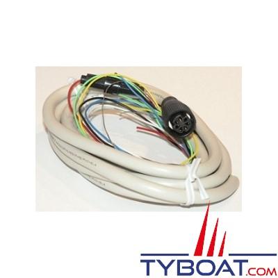 Cordon alimentation et NMEA0183 Furuno pour GP32-37/NX300/RD30/LS4100/PG500 7 plots femelle