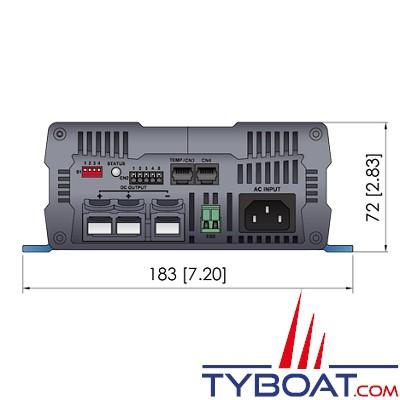 COTEK - Chargeur de batterie 12V 25A - 2 sorties