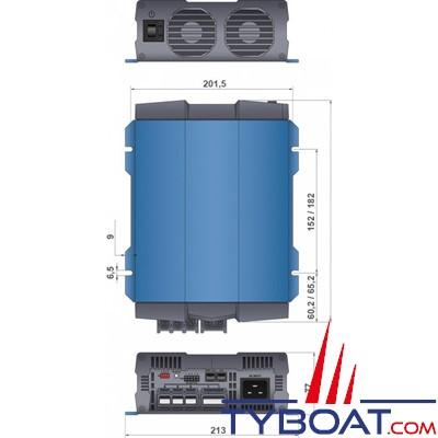 COTEK - Chargeur de batterie CX1280 3 sorties 12V 80A